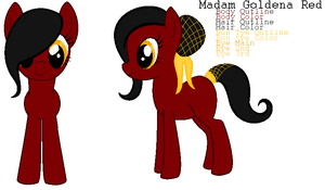 Pony Adopts - Madam Goldena Red by xPixels-Puff-Adoptsx