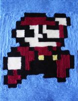 Mario Yarn Painting by Alicia1018