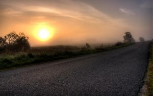Foggy Sunrise by joac1408