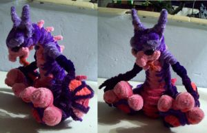 Lester pipe cleaner sculpture by Eclpsedragon