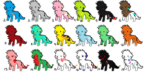 Adoptables by MY-SUiCiDAL-STRETCH