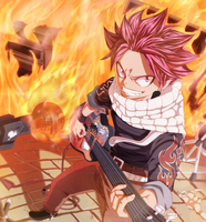 Fairy_Tail_NATSU-ROCK! by afran67