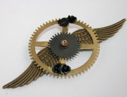 Of Wings and Roses Brooch by mermaidencreations
