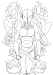 Covered By Roses-linework by Shadow-Lockheed