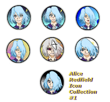 Example Commission: Alice Icon Collection #1 by MageKnight007