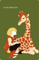 girl and her giraffe by tea-ram