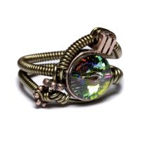 Steampunk ring vitrail by CatherinetteRings