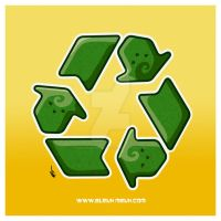 Kawaii Recycle Symbol by KawaiiUniverseStudio