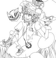Me as Hatter -lineart- by ocmaker101