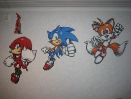 Sonic Team Bead Sprites by Zakkyy