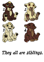 Siblings Adoptable 10 - OPEN - by Soufroma