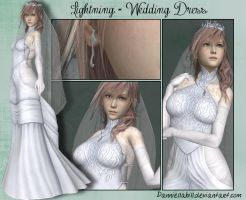 XNA Preservation - Lightning Wedding Dress by ZakkenSebern