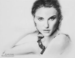 Natalie Portman Drawing by SkarValidus
