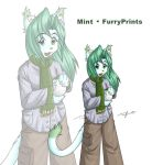 Mint the FurryPrints Mascot by Twokinds
