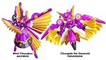 Wind Chryssipus and Chrysgale Comparison by ultimatemaverickx