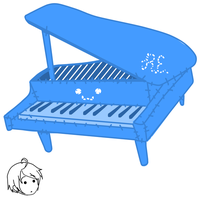 piano plush by kelly--bean