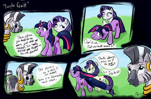 [Comic] Purple Guilt  (now in color) by Obsequiosity