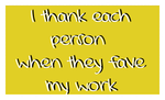 I thank for faves stamp by LaMoonstar