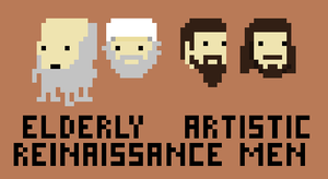 Elderly Artistic Renaissance Men. by CrimeBaby
