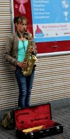 Pink Saturday 2013 Saxophone girl by Joshua-Mozes