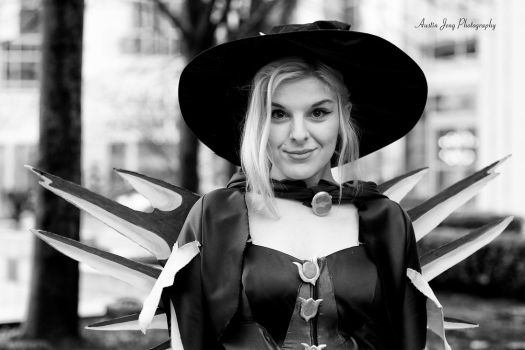 Black and White Witch Mercy by Shroker