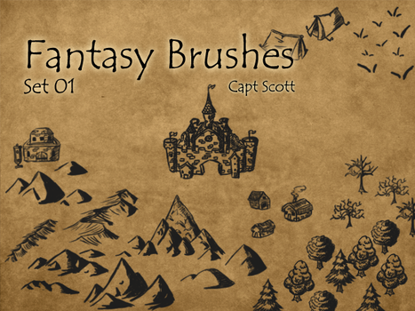 Fantasy Brush Pack 01 by CaptScott