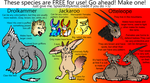 Creatures (Reference Sheets) by pSarahdactyls