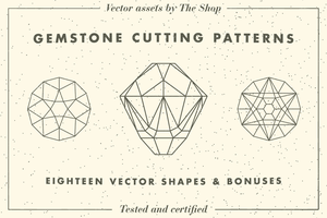 Gemstone cutting pattern vector elements by simonh4