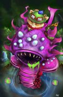 Teemo Vs. The Baron Nashor by Of-Red-And-Blue
