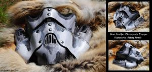 Bone Steampunk Trooper MC Mask by Epic-Leather