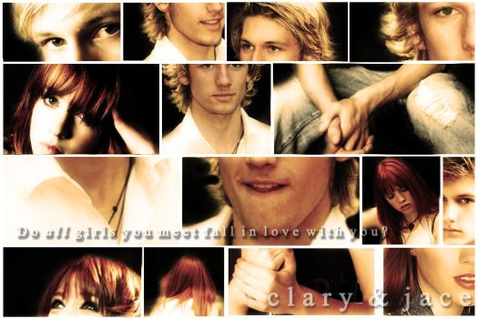 City of Bones Jace and Clary by bluesthour