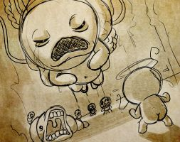 Sketch - The Binding of Isaac - It Lives by Sawuinhaff