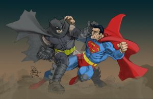 Dark Knight vs Superman by Plugin848y
