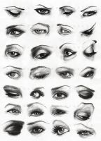 Female eyes by dh6art