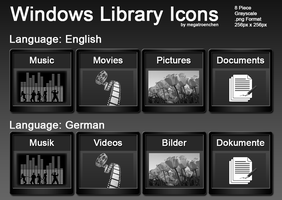 Windows Library Iconpack by Megatroenchen