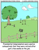 Teleprompters to Pasture by Conservatoons
