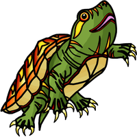 Turtle Fire Shell by InfinityFangX