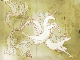 Narwhal Scroll by sadwonderland