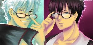 Glasses reflect the soul of a man by Choko17