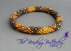 Diamondback Bangle by beadg1rl