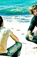 LOST: Sawyer, Kate, and Beach by IntroIuvara