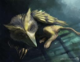 Sleeping Beast: Speed Paint by Tekamza