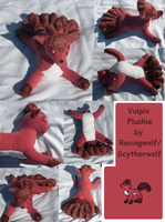 Vulpix Plushie by racingwolf