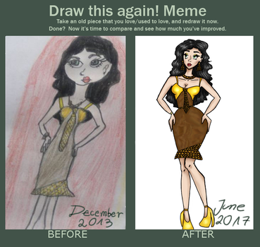 Meme  Before And After Draw this again by exorina888
