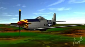 P51 Mustang by arionquill