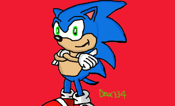 Classic Sonic by Drax334