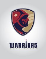 WASHINGTON WARRIORS REDSKINS REBRAND BLUE VERSION by BURZUM