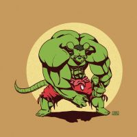 Hulky Mouse by marvelleftw