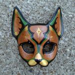 Persian Cat...Leather Mask by merimask