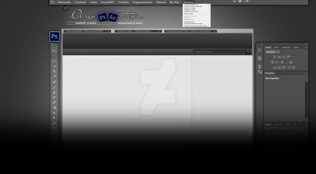 Background YouTube Partner Photoshop CS6 by WebMazterHacker
